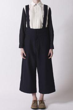 Navy Brace Trouser