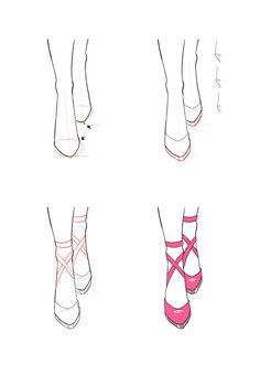 Draw front view of shoes. Draw front view of shoes. Fashion Drawing Tutorial, Fashion Illustration Tutorial, Fashion Illustration Dresses, Fashion Design Sketchbook, Fashion Design Drawings, Fashion Sketches, Feet Drawing, Art Drawings Sketches, Drawing Clothes