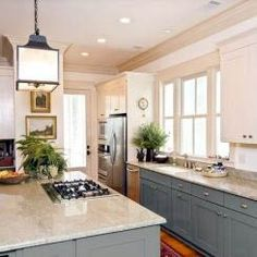 Are you wanting to refresh your dated oak cabinets with paint? Here are some great tips + tricks for painting oak cabinets and giving them a new look! Green Kitchen Cabinets, Kitchen Cabinet Colors, Kitchen Paint, Kitchen Colors, Kitchen Ideas, Cupboards, Kitchen Tips, Kitchen Cabinets Color Combination, Cherry Cabinets