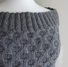 Fashion Forward Cowl Knitting Pattern with Honeycomb Cable Stitch -- can be worn multiple ways as cowl, wrap, and more.