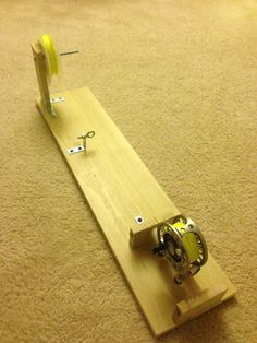 Tight Lined Tales of a Fly Fisherman: DIY Reel Spooling Station