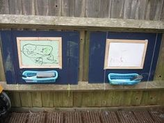 Outdoor mark-making boards