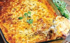 Meat Lasagna; Tried it - Jon said that I need to use my meat sauce recipe next time, but it was good.