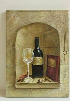 Wine Oil Painting 124