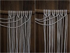 Kaarnan katveessa: Kuvalliset ohjeet: makramee seinävaate Decor Home Living Room, Bedroom Decor, Home Decor, Handicraft, Diy And Crafts, Knit Crochet, Projects To Try, Crafty, Knitting