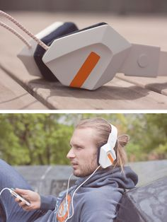 20 Creative Headphone Designs For Audiophiles- open website ..check the skull candy fabric complex + desil geometric shape