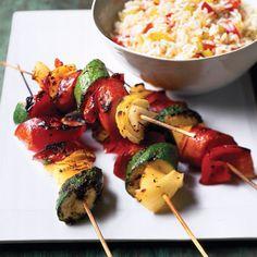 Jambalaya sausage Kebabs Delish.com