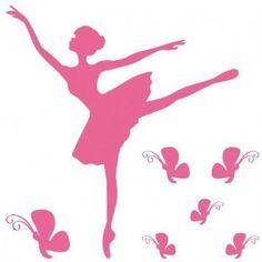 Stickers Danseuse et papillons - Stickers muraux - Mandellia