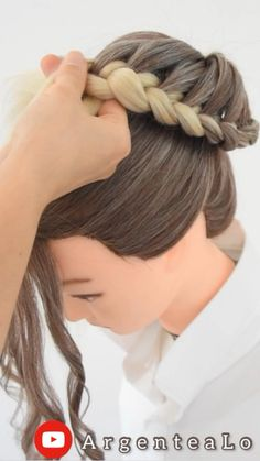Hair Ponytail Styles, Hair Up Styles, Natural Hair Styles, Bun Hair, Bride Hairstyles, Gatsby Hairstyles For Long Hair, Waitress Hairstyles, Easy Braided Hairstyles, Easy Updos For Long Hair