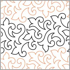 Urban Elementz: Trumpet Vine - Grande.  Testing this out today on a kids quilt.  I really like the easy flow.  Going to use in on my Scrap Brick quilt I am working on!