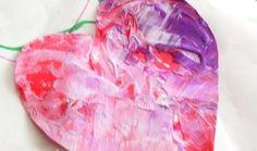 Como hacer corazones de papel pintados originalmente
