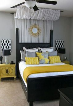 DIY Bedroom Ideas For Or Boys - Furniture   Pinterest   Grey ... on yellow and gray throw pillows, yellow and gray art, yellow and gray rugs, yellow and gray bed set, yellow and gray baby shower, yellow and gray nursery, yellow and gray decor, yellow and gray bedding, yellow and gray playroom, yellow and gray livingroom, yellow and gray wallpaper, yellow and gray dresser, yellow and gray color, yellow and gray accent walls, pale yellow bedroom, blue and brown bedroom, yellow and gray bed in a bag, yellow and gray bathroom, yellow and gray drapes, yellow and gray chevron,