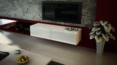 Szafka RTV wisząca Vivo 140 biały / biały połysk! (5692524539) - Allegro.pl - Więcej niż aukcje.