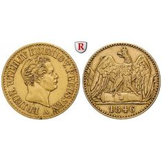 Brandenburg-Preussen, Königreich Preussen, Friedrich Wilhelm IV., Doppelter Friedrichs d`or 1846, ss+: Friedrich Wilhelm IV.… #coins