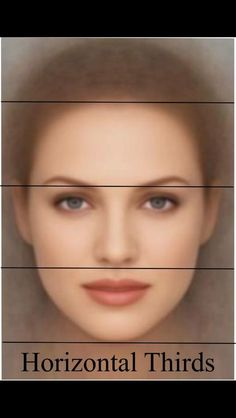 Rule of Thirds: A well-portioned face may be divided into equal thirds by drawing horizontal lines through the forehead hairline the brow the base of the nose and the edge of the chin. Drawing Techniques, Drawing Tips, Facial Proportions, Drawing Proportions, Face Anatomy, Rule Of Thirds, Rhinoplasty, How To Draw Hair, Make Art