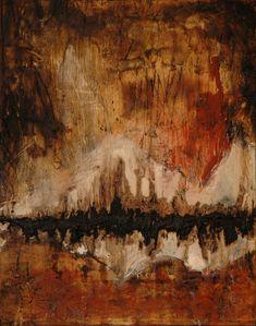 Domenick Naccarato encaustic mixed media abstract painting