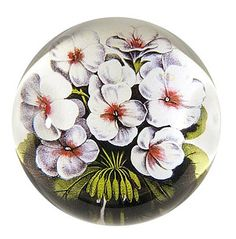 Geraniums Dome Paperweight by John Derian