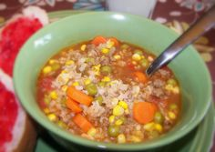 Hearty and delicious Fall dinner - Hamburger Soup