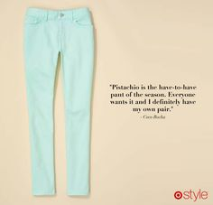 Coco Rocha's Must Haves  own it: the pistachio pant from Target - awesome!