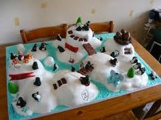 arctic themed birthday cake - Google Search