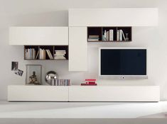 contemporary modern tv media unit white isanta lucia … | pinteres…
