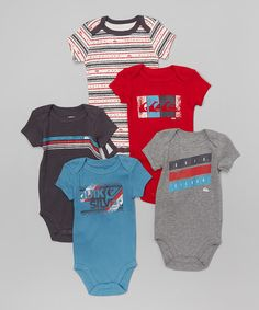 This Blue & Red Bodysuit Set - Infant is perfect! #zulilyfinds