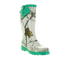 Realtree Ms JoJo Womens Rubber Boots 7 Snow Mint ** Be sure to check out this awesome product. (This is an affiliate link) Camo Boots, Wellies Rain Boots, Muck Boots, Cowgirl Boots, Shoe Boots, Womens Hunting Clothes, Camo Outfits, Fancy Shoes, Snow Boots Women