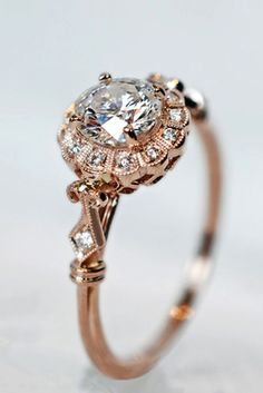 Vintage Rings 24 Vintage Engagement Rings With Stunning Details Vintage Faux Ruby Diamond Ring, Yellow Gold Vintage Sterling Vintage Gold Engagement Rings, Vintage Diamond Rings, Wedding Rings Vintage, Rose Gold Engagement Ring, Wedding Jewelry, Wedding Engagement, Gold Wedding, Solitaire Diamond, Wedding Bands