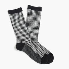 $16.50 It's the little things—like these houndstooth trouser socks—that make getting dressed a little more fun. <ul><li>Cotton/poly/elastane.</li><li>Machine wash.</li><li>Import.</li><li></li></ul>
