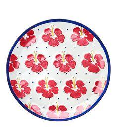 Another great find on #zulily! 16'' Hibiscus Serving Platter #zulilyfinds