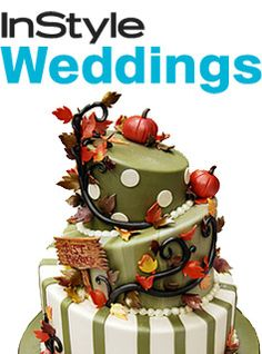 Instyle Wedding Magazine – Fall Wedding Cakes By Pink Cake Box Wedding Cakes & more
