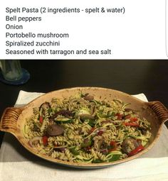 Alkaline Vegan spelt pasta with Dr Sebi approved ingredients