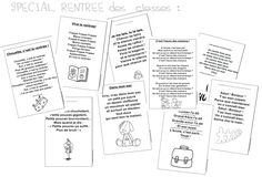 Dossier Rentrée French Poems, Kindergarten Themes, French Resources, Primary Classroom, School Themes, Childcare, Back To School, About Me Blog, Bullet Journal