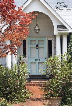 6Panel Glass Door - Pale Blue