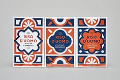 The identity for this Milanese artisan rice brand uses simple, geometric patterns to set itself apart in the market.