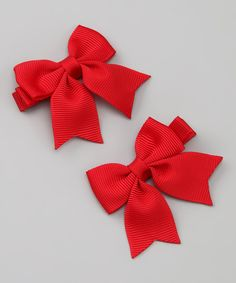 Take a look at this Bitty Bop Bows Red Bow Clip Set on zulily today!
