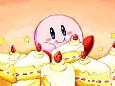 Kirby and cake. c: