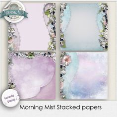 Morning mist Stacked papers by butterflyDsign