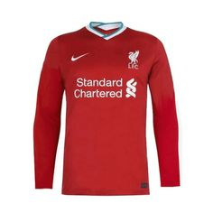 Liverpool 20/21 Home Long Sleeve Soccer Jersey Personalized Name and N – zorrojersey Premier League, Liverpool, Soccer, 21st, Names, Shorts, Sweatshirts, Long Sleeve, Model