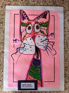 Zany Cat   My second graders work