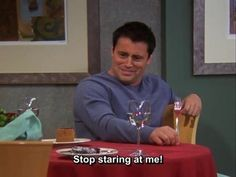 How it feels when you're on a diet and there is food in sight. | Community Post: Joey Tribbiani's 35 Greatest Food Moments