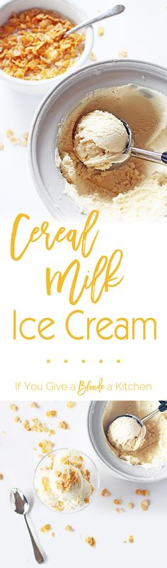 This is the best cereal milk ice cream recipe! It tastes just like the kind from Momofuku Milk Bar in NYC. The recipe has only six ingredients. | @haleydwilliams