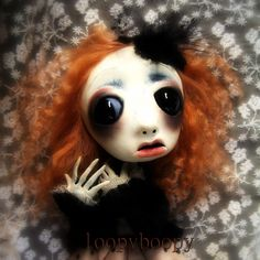 Loopy ooak Gothic Art Halloween decoration Scarey Doll  Jenna. $275.00, via Etsy.
