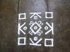 Rangoli designs/Kolam: S.No. 55 :-7 pulli 7 varisai kolam