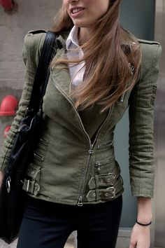 army-moto jacket: great structure.
