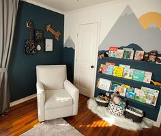 "Liam's ""Sing-Song by the Campfire"" nursery! #boyroom #ohamydecor #nursery"