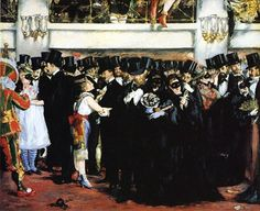 Édouard Manet –Masked Ball at the Opera, 1873-74