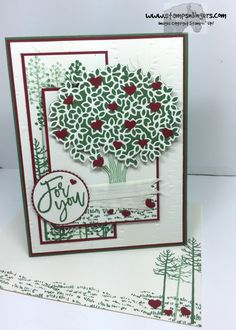 Stamps-N-Lingers.  Thoughtful Branches stamp set, Beautiful Branches Thinlits, Woodland TIEF. https://stampsnlingers.com/2016/07/24/stampin-up-beautiful-thoughtful-branches-in-our-hearts/