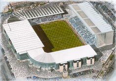 Maine Road in Art, former home of Manchester City F.C.