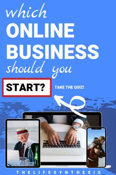 Are you looking for ideas on starting an online business so you can work at home and make some extra money? To start an online business you'll need a place, because you don't want to get good at the wrong thing. Then you can combine your natural skills with something you're passionate about (put in the effort) and watch the money roll in. Take this free quiz and find out exactly which business you should start! #onlinebusiness #onlinebusinessbeginner #onlinebusinesstips #onlinebusinessideas